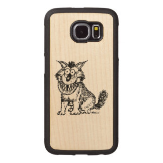 Crazy Dog Wood Phone Case