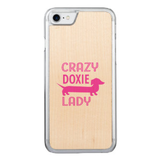 Crazy Doxie Lady Funny Dachshund Mama Carved iPhone 8/7 Case