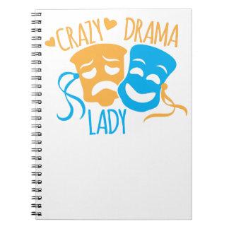 Crazy DRAMA Lady Notebook