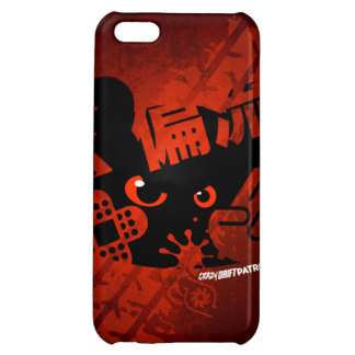 Crazy Drift Patrol - Aggressive Panda Silhouette Cover For iPhone 5C