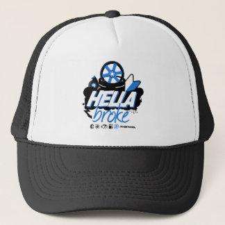 Crazy Drift Patrol - Hella Broke (blue) Trucker Hat