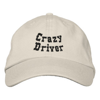 Crazy Driver Embroidered Baseball Caps