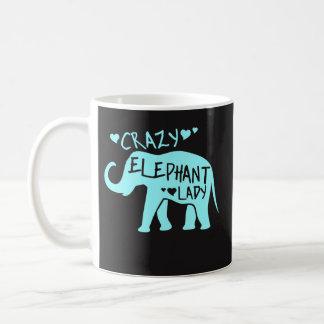 Crazy Elephant Lady - Elephant Lover Coffee Mug