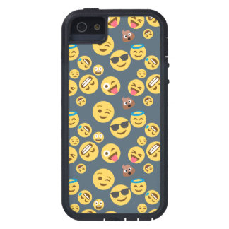 Crazy Emoji Pattern (grey background) iPhone 5 Case