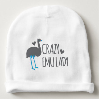 crazy emu lady baby beanie