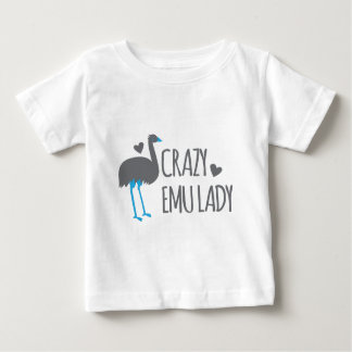 crazy emu lady baby T-Shirt