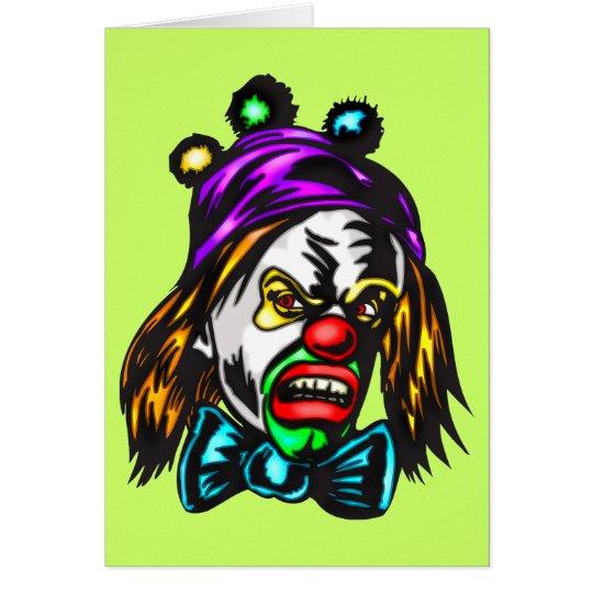 Crazy Evil Clown Card