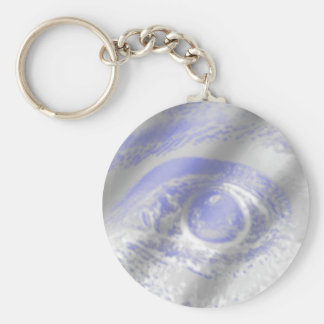 Crazy Eye Basic Round Button Key Ring