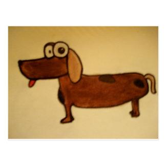 crazy eye dog postcard