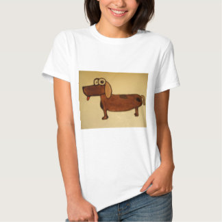 crazy eye dog t-shirt