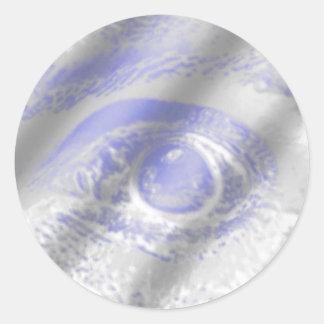 Crazy Eye Round Sticker