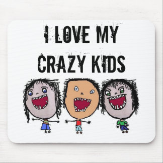 Crazy Face Cartoon Kids Mouse Pad