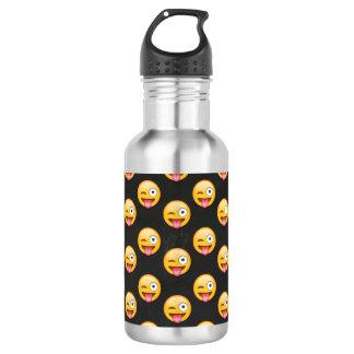 Crazy Face Emoji 532 Ml Water Bottle