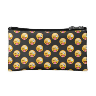 Crazy Face Emoji Cosmetic Bag