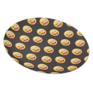 Crazy Face Emoji Dinner Plate