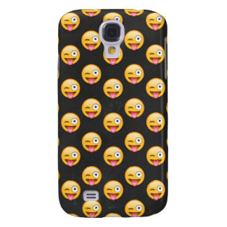 Crazy Face Emoji Galaxy S4 Cases