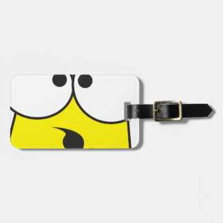 Crazy Face Luggage Tag