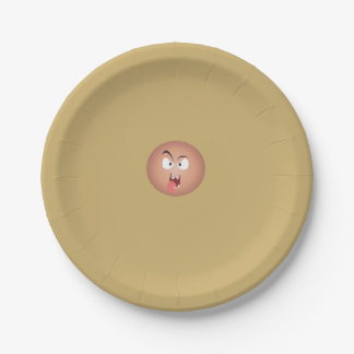 Crazy Face Paper Plates