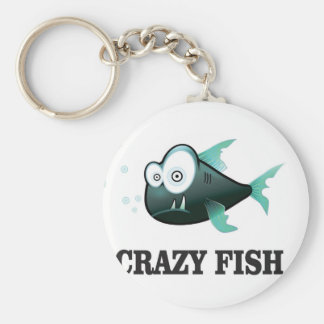 crazy fish yeah key ring