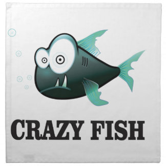 crazy fish yeah napkin