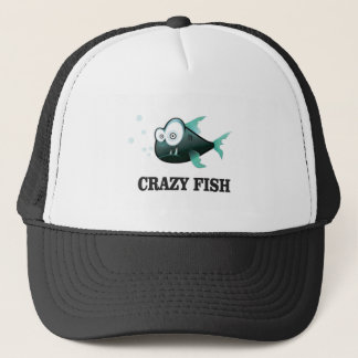 crazy fish yeah trucker hat