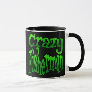 Crazy Fisherman in Green Mug
