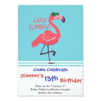 Crazy flamingo card