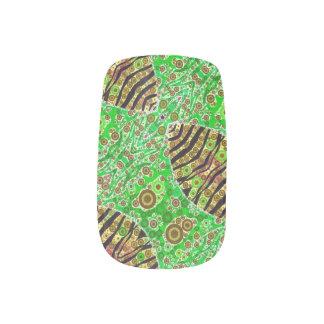 Crazy Florescent Abstract Minx Nail Art