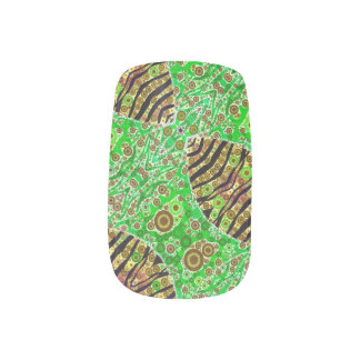 Crazy Florescent Abstract Nail Stickers
