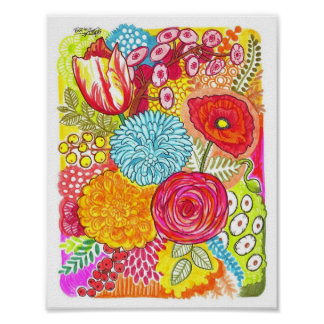 Crazy Flowers Poster