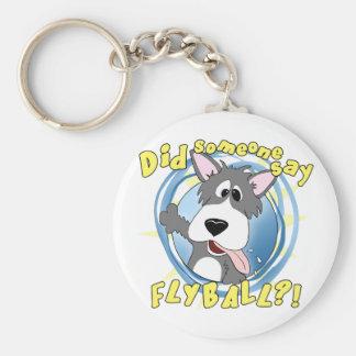 Crazy Flyball Dog Keychain