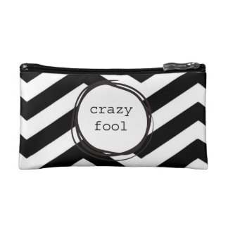 Crazy Fool Funny Makeup Bag