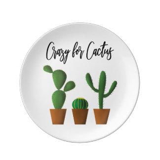 Crazy for Cactus Porcelain Plate