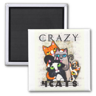 Crazy For Cats Magnet