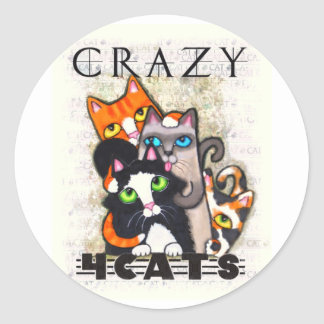 Crazy For Cats Stickers