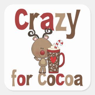 Crazy For Cocoa Square Sticker