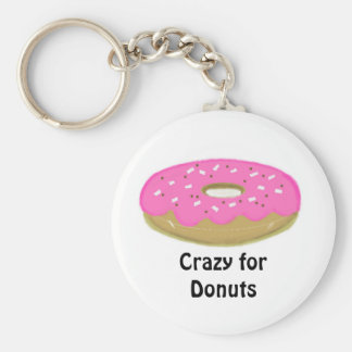 Crazy for Donuts Key Ring
