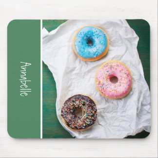 Crazy for Donuts | Personalized Mouse Pad