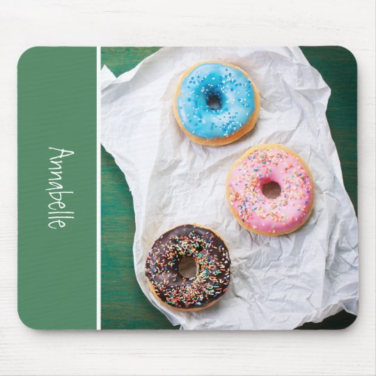 Crazy for Doughnuts | Personalised Mouse Pad