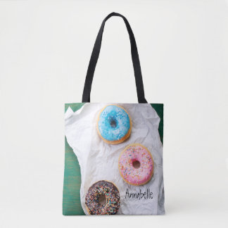 Crazy for Doughnuts | Personalised Tote Bag