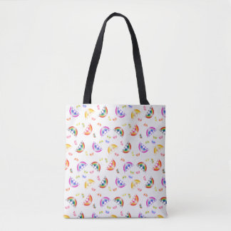 Crazy for Rainbows Tote Bag