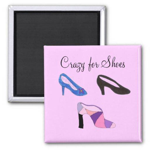 Crazy for Shoes - magnet Magnets