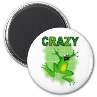 CRAZY FROG 6 CM ROUND MAGNET
