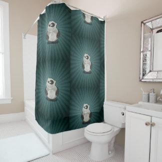 Crazy Fun Panda Shower Curtain