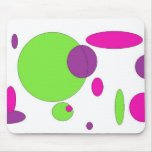 Crazy funky circles mouse pad