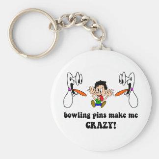 Crazy funny bowling key ring