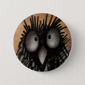 Crazy Funny Night Owl Art for Owl Lovers 6 Cm Round Badge