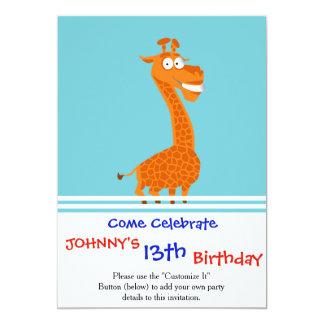 Crazy giraffe card