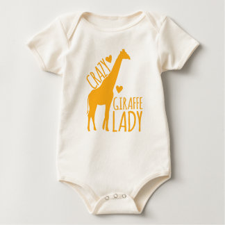 crazy giraffe lady baby bodysuit