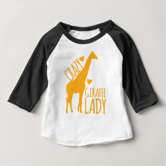 crazy giraffe lady baby T-Shirt